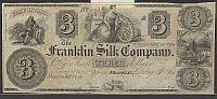 Franklin, Ohio The Franklin Silk Company, $3 Remainder, CU